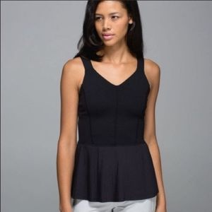 Lululemon city tank black size 8